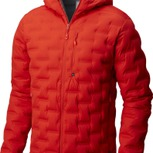 StretchDown DS Hooded Down Jkt M Fiery Red