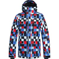Mission Printed Jacket Dress Blue_Check Atomic