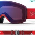 Masque De Ski/snow Smith Skyline Rise Chromapop Photochromic Rose Flash