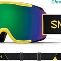 Masque De Ski/snow Smith Squad Citron Glow Chromapop Sun Green Mirror