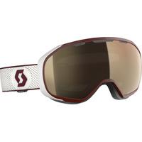 Masque De Ski/snow Scott Fix Ls White/merlot Red/light Sensitive Bronze Chrome Cat 1-2 A 3