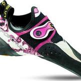 Chaussure escalade Solution - Blanc/Rose