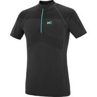 T-shirt Trail Homme LTK Seamless Zip SS- Noir
