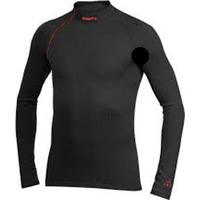 Shirt 194610 Active Extreme Zip Turtleneck S black/lava